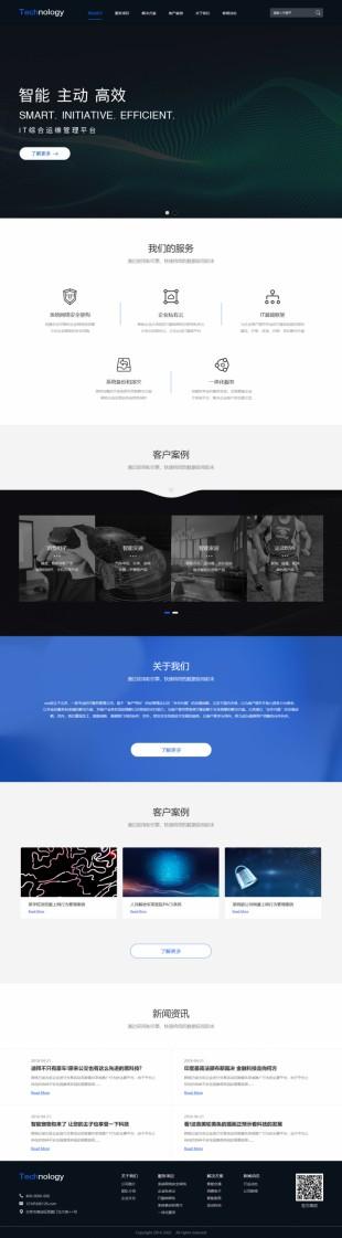 科技公司服务型网站建设模板电脑图片