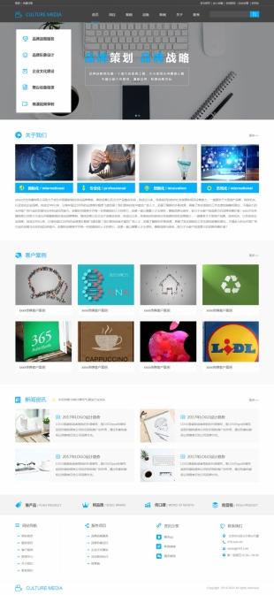 文化传播类网站通用模板电脑图片