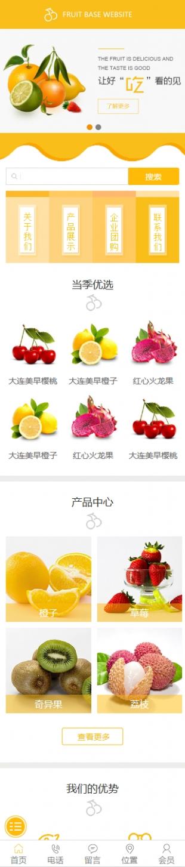 水果超市类网站制作模板手机图片