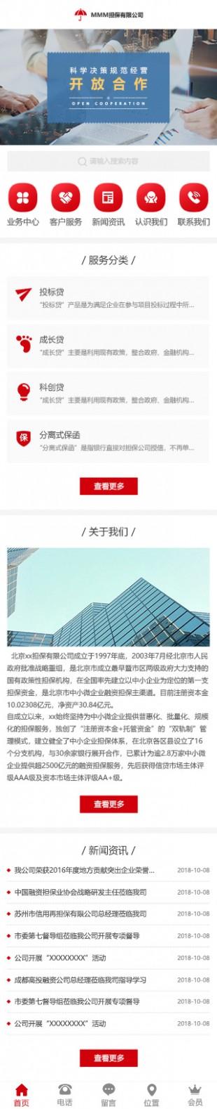 担保公司网站建设模板手机图片