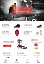 户外运动用品类网站建设模板手机图片