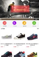 户外运动商品类网站建设模板手机图片