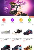 运动健身商品类网站建设模板手机图片