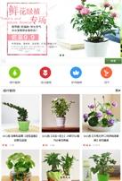 绿植盆景类网站模板手机图片