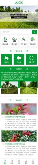 园林绿化基地网站建设模板手机图片