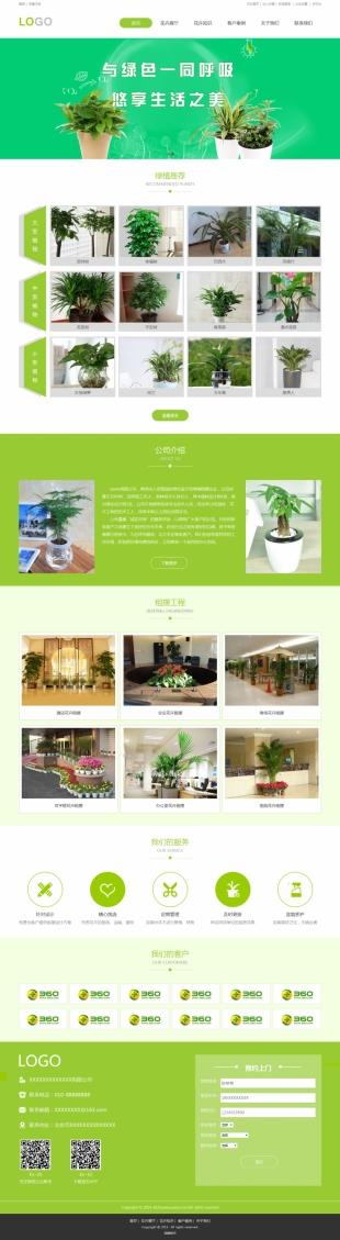 花卉艺术类网站建设模板电脑图片