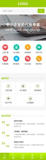 财务顾问公司类网站制作模板手机图片